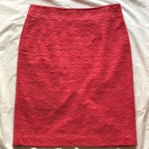 Banana Republic coral straight skirt
